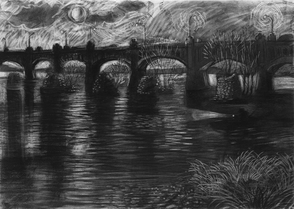 Night Fishing   30 x 44