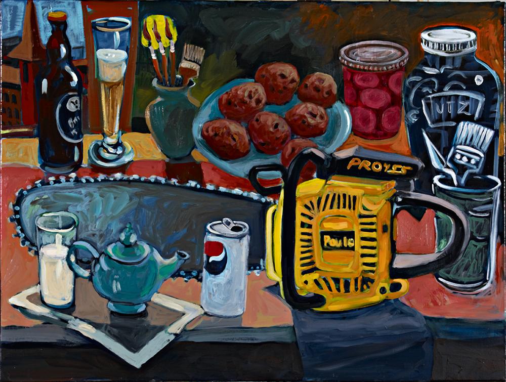 Poulan  oil on canvas 30 x 40