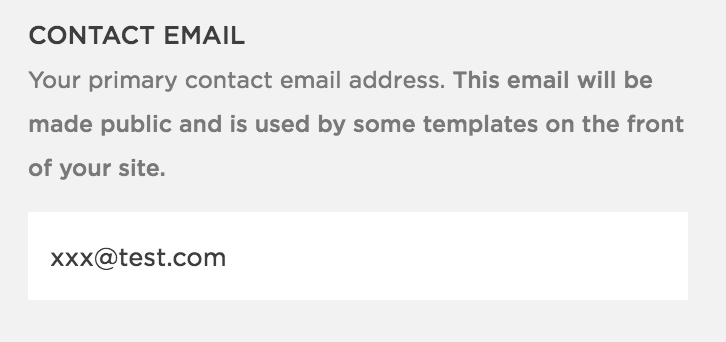 Contact Email Address Box
