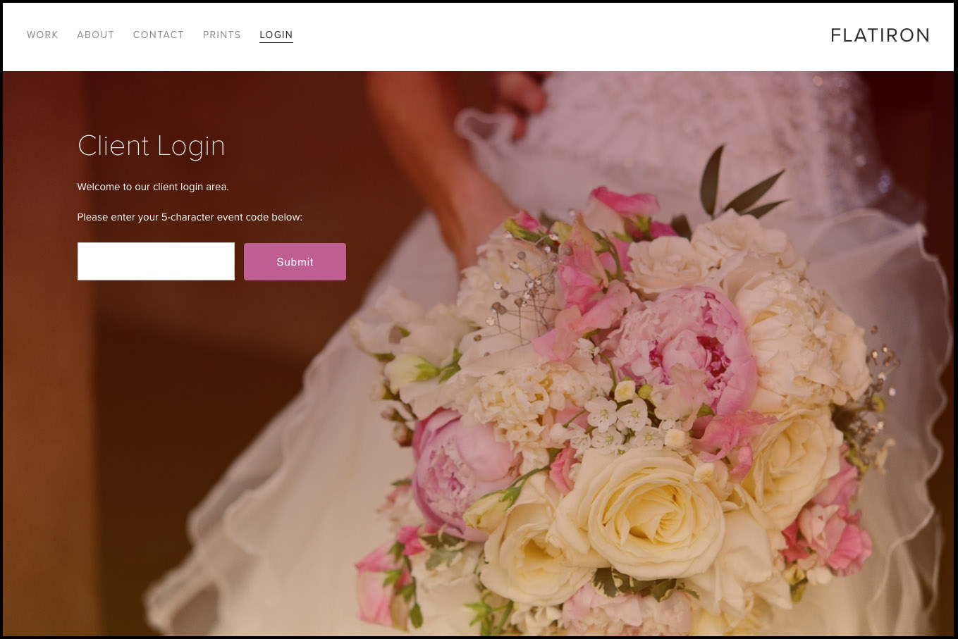 Page for Client Login