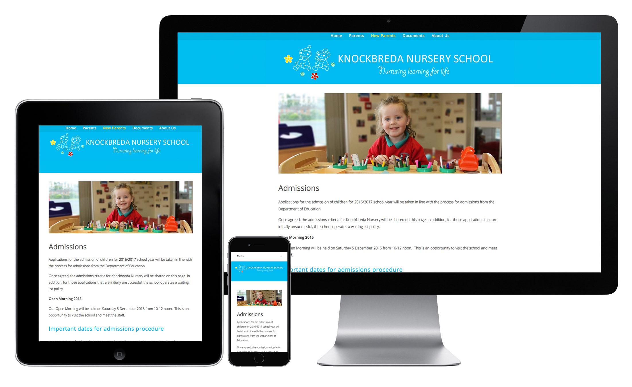 Knockbreda Nursery Website
