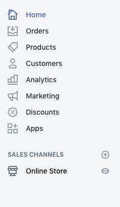 Shopify navigation