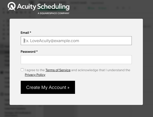 The complex sign-up form