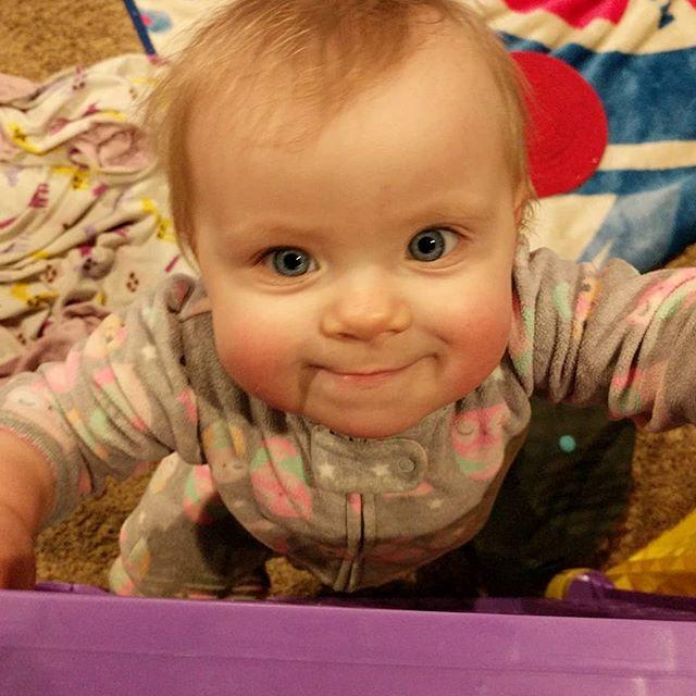 #mybaby Aurora Vaughan #smiling😊