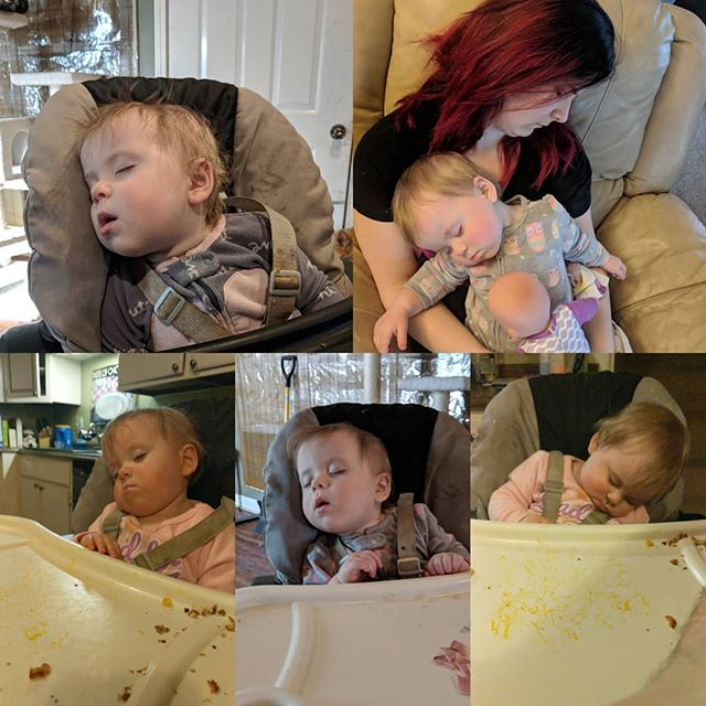 She sleeps quite a bit!