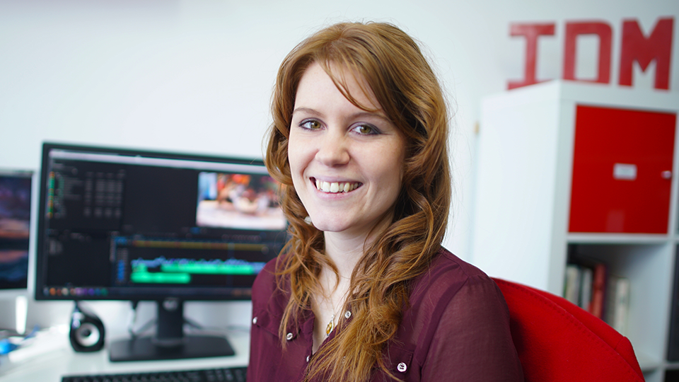 April White is the Head of Post Production at IDM Media - a Birmingham based film and video production company. April loves editing video content - it's her passion!