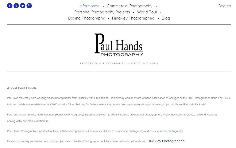 Paul Hands Photography Hinckley Midlands
