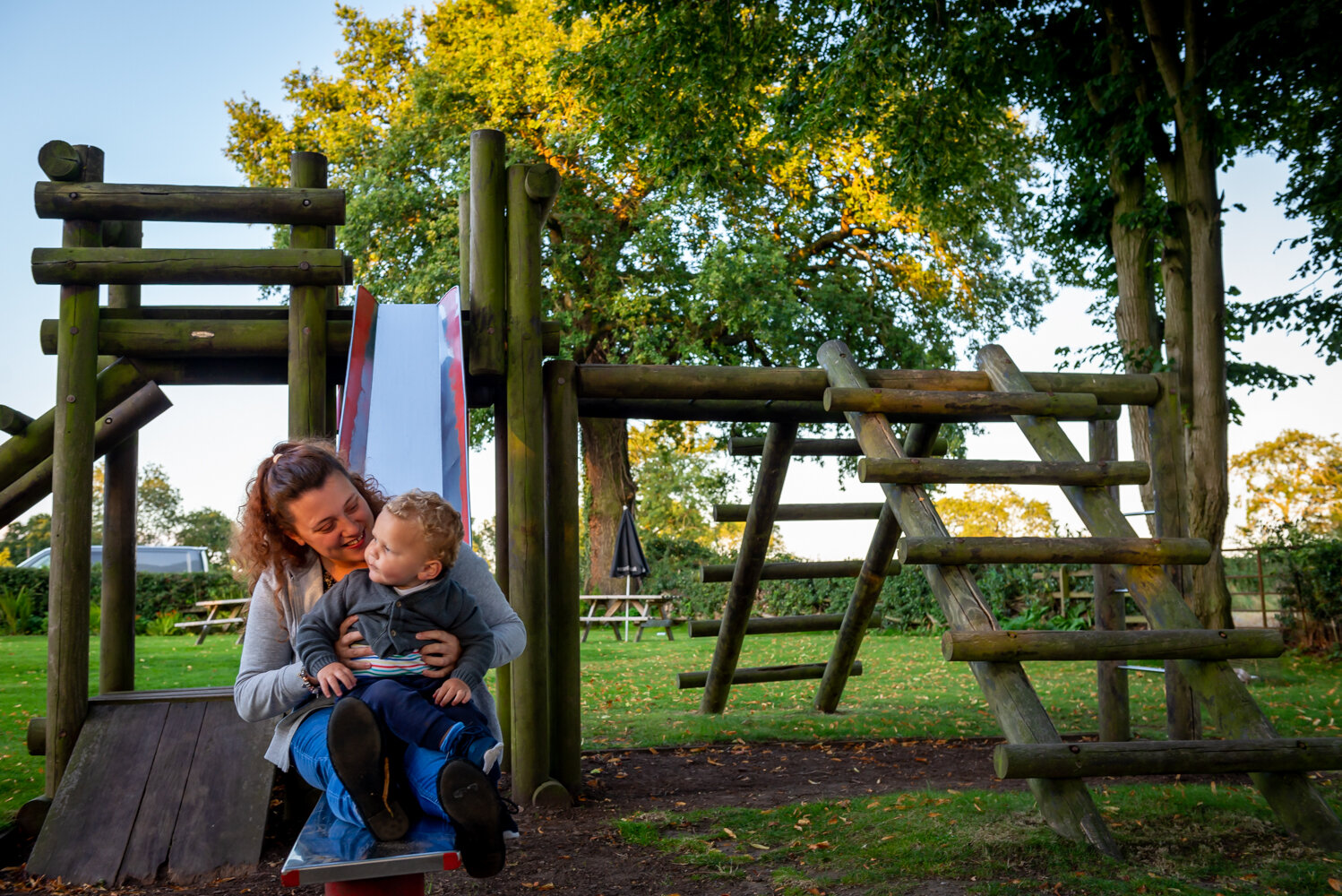 Adventure playground, ideal for keeping the kids occupied