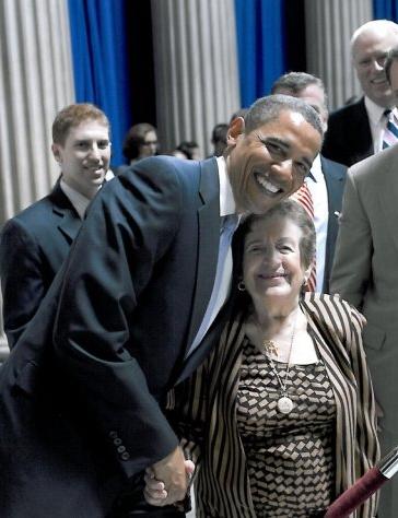 Founder Mary Sansone with President Barak Obama