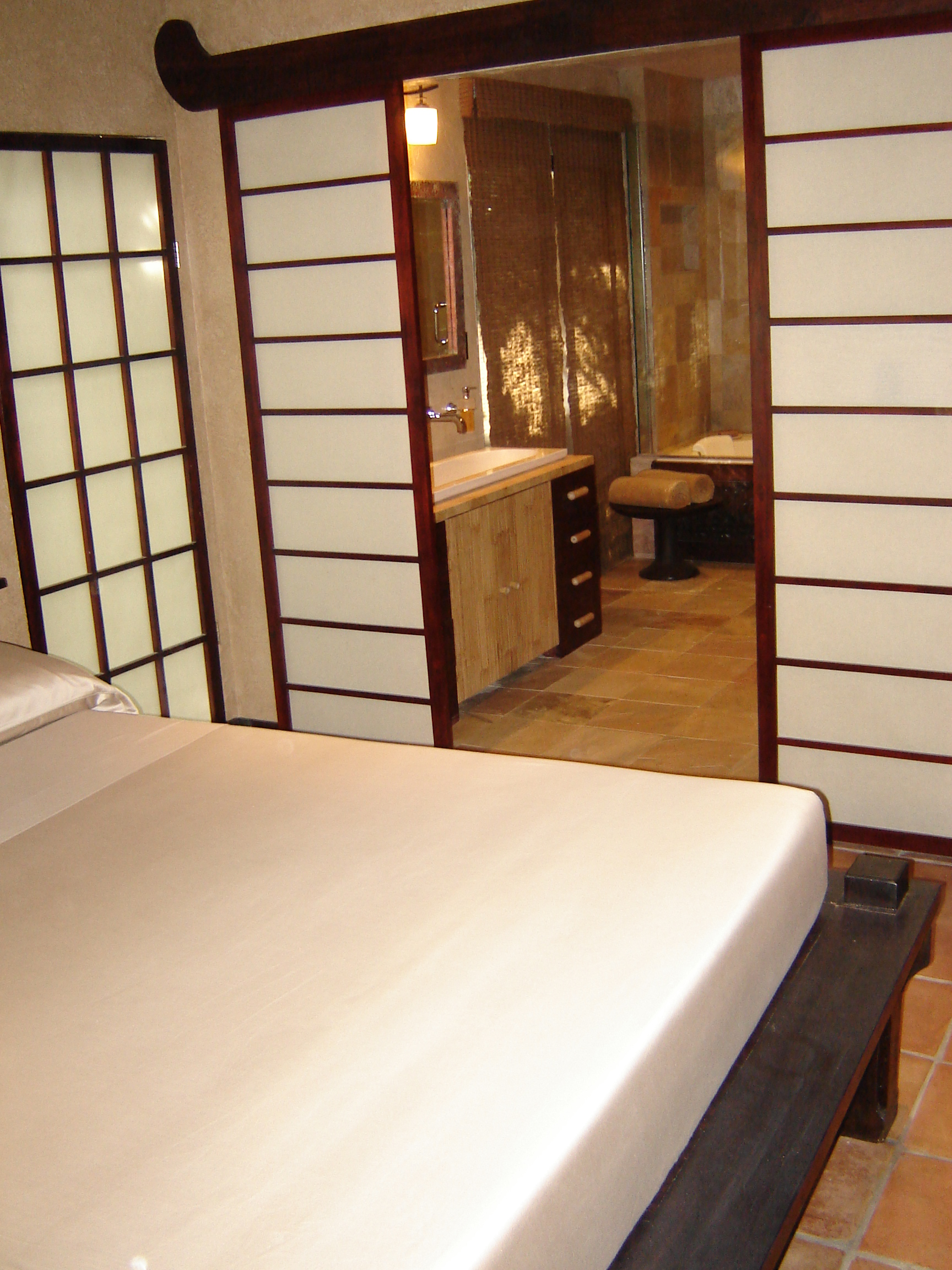 custom shoji sliding screen and window treatment and finishes