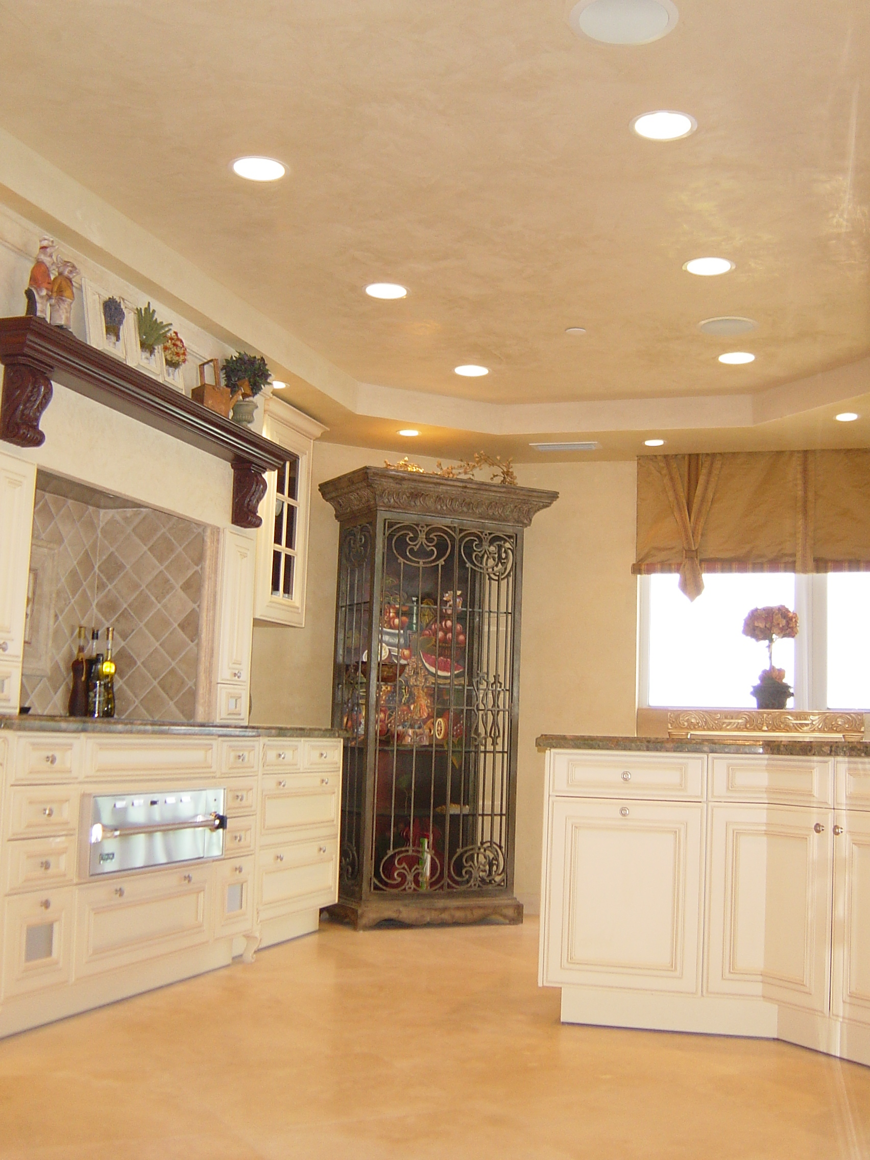 custom painted kitchen cabinets and walls