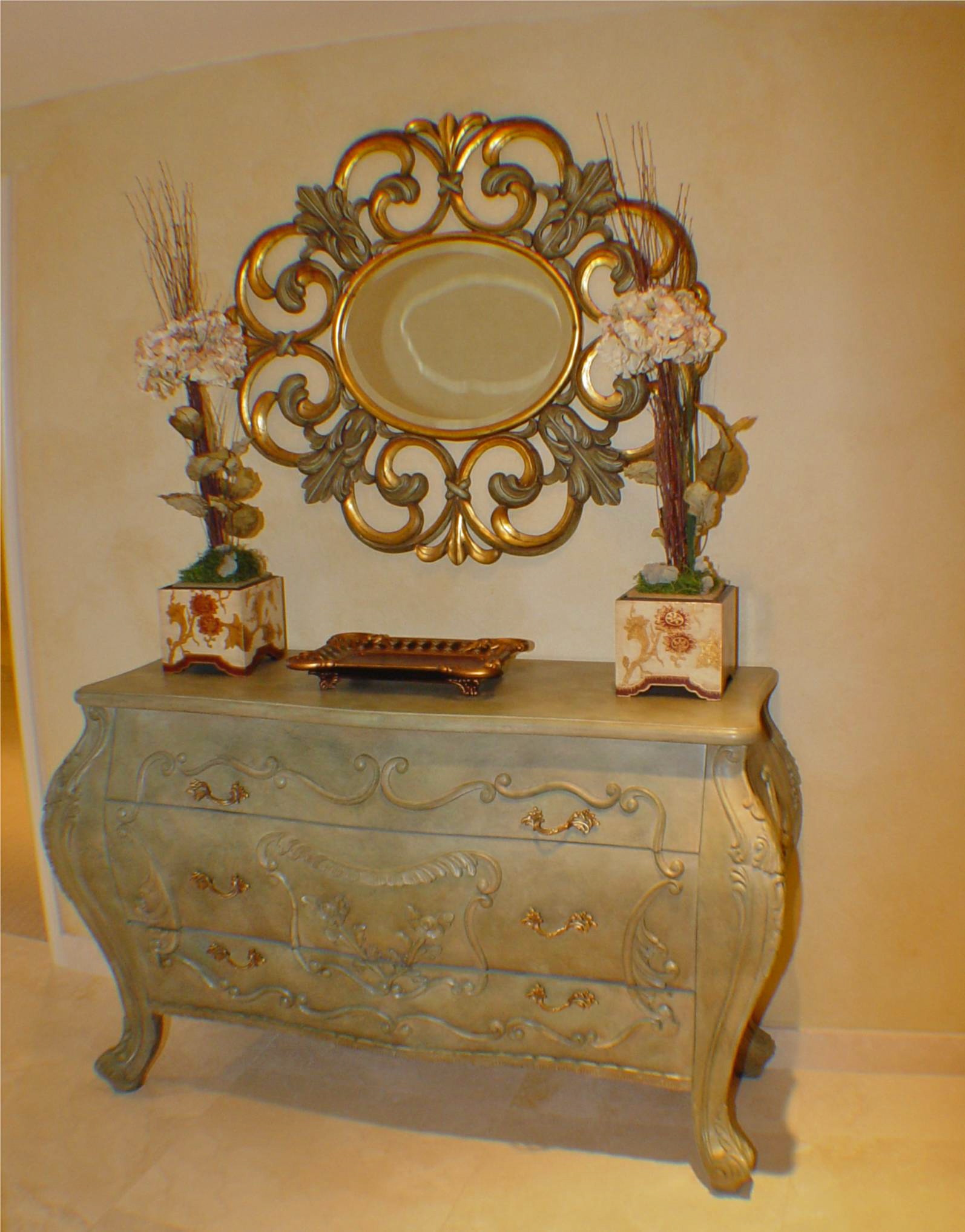 Louis XVI console sideboard sic color custom refinish
