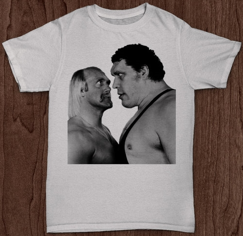 Ok, so look at how huge Andre looks compared to Hulk.     Now remember that Hulk Hogan is roughly the size of a Clydesdale.