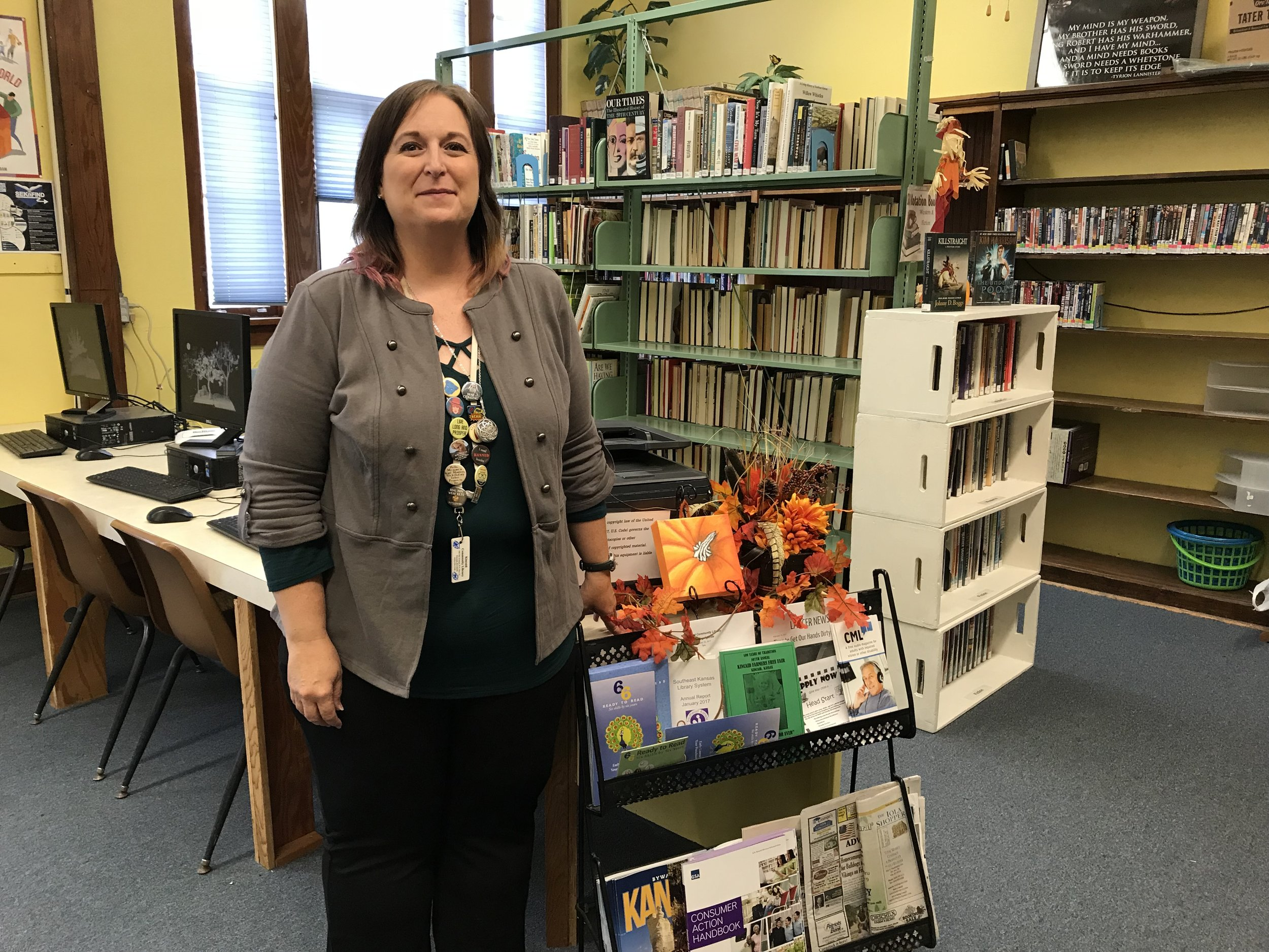 Citizen-librarian Jennifer Gum-Fowler helped found and now runs the Kincaid public library.