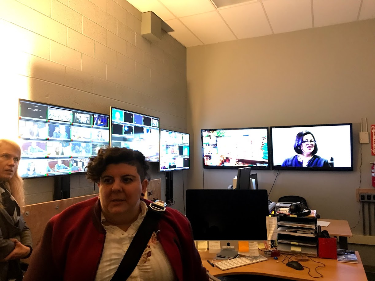 The Open Signal master control room feeds content to several outlets in the region, including some of the cable companies. This is the master control room. This nice lady who showed us around during the first half of the tour is Development Manager Marina Martinez-Bateman.