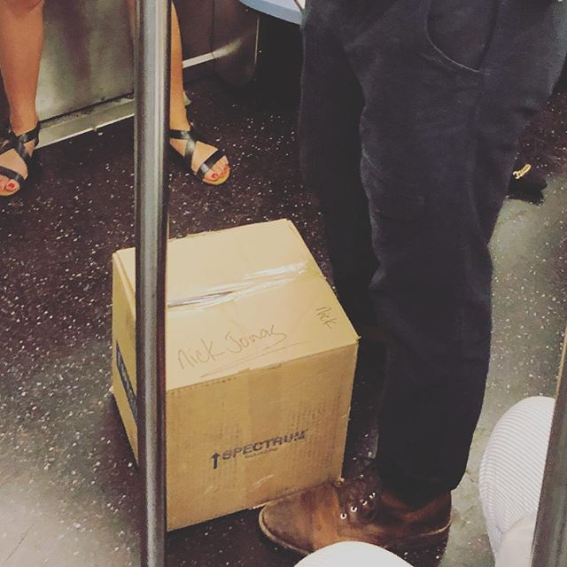 What's in the boooox!? Has anyone seen Nick Jonas lately? Maybe someone should check in on him? #subwaycreatures