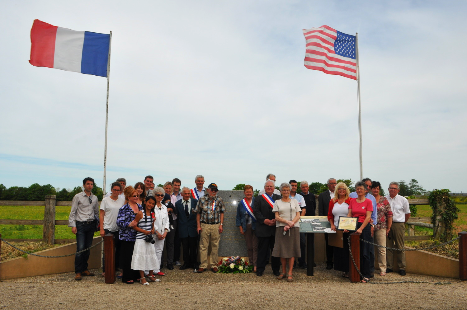 The ceremony in Catz - the place where Herb Simmons (Papa) helped build an airstrip 70 years ago.