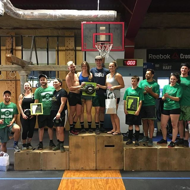 Huge congratulations to our winning teams in today's Rec division competition! @crossfitburlingtonvt @greenmountaincrossfit Central and North  All the athletes throughout the day today were exceptional.  Great attitudes, and hard workers.  Can't wait to see our Master's athletes tomorrow, Day Two for our Open competitors!  #2019vermonster