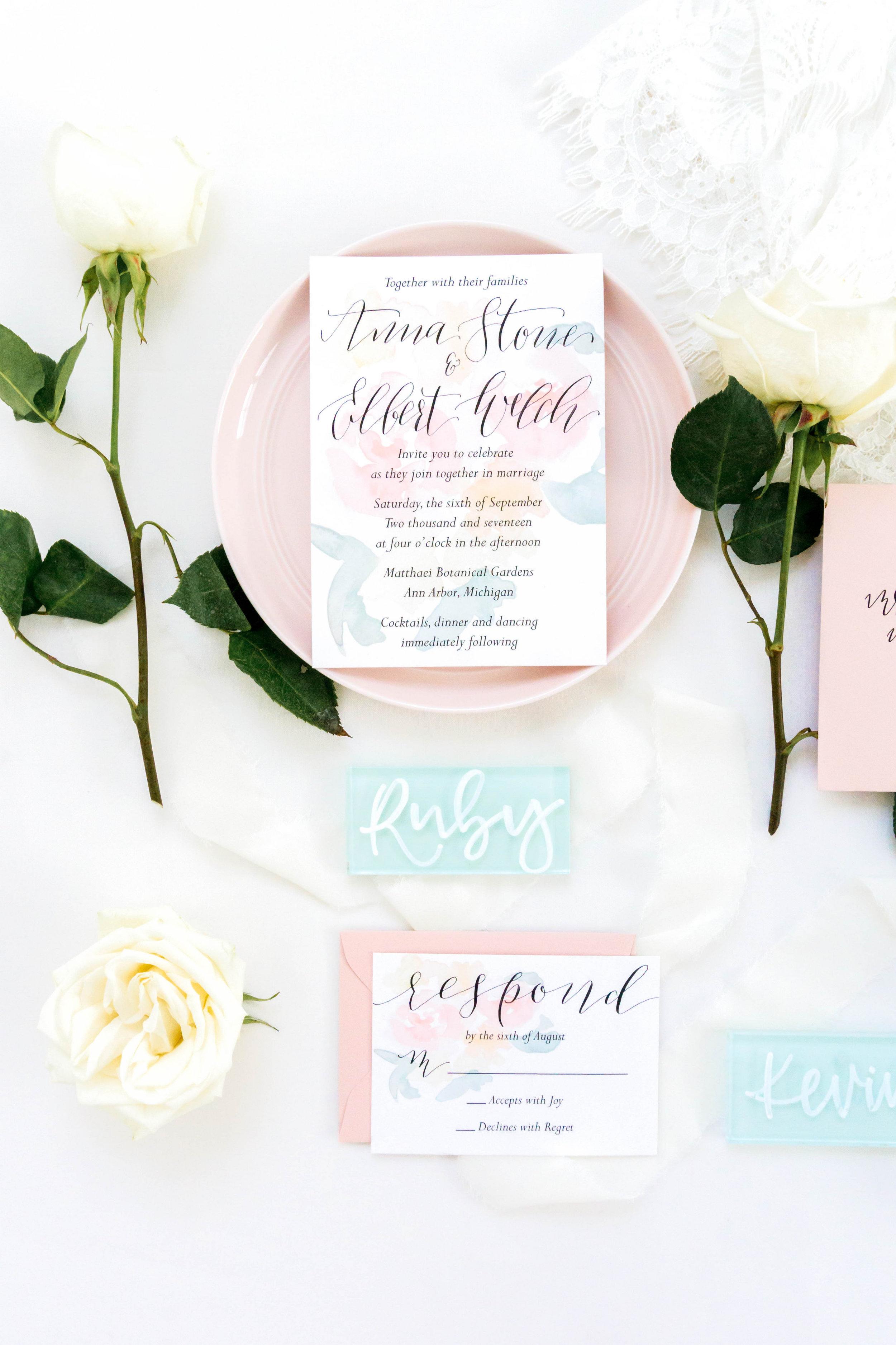 love-fern-design-studio-custom-wedding-invitations-for-the-modern-couple-modern-calligraphy-in-seattle-washington-custom-wedding-stationery-blush-sage-floral-watercolor