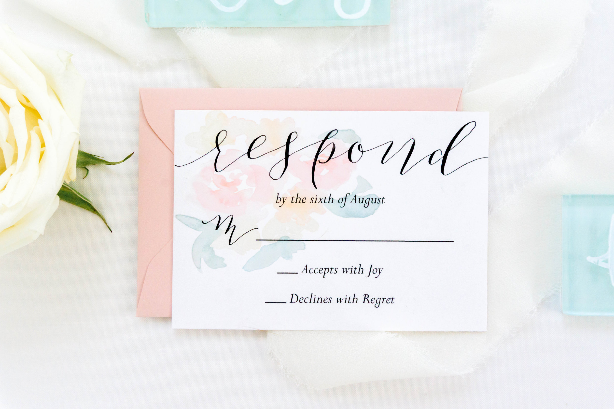 love-fern-design-studio-custom-wedding-invitations-for-the-modern-couple-modern-calligraphy-in-seattle-washington-custom-wedding-stationery-light-pink-watercolor-floral-rsvp-card