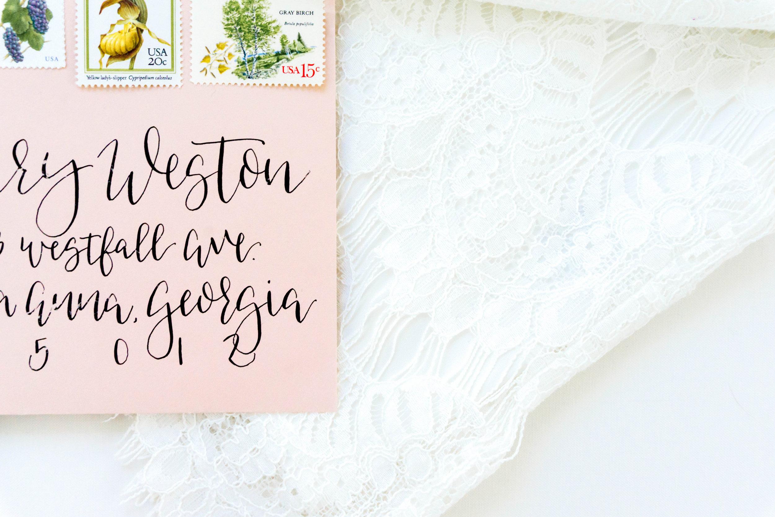 love-fern-design-studio-custom-wedding-invitations-for-the-modern-couple-modern-calligraphy-in-seattle-washington-custom-wedding-stationery-light-pink-watercolor-floral-invitation-pink-envelope
