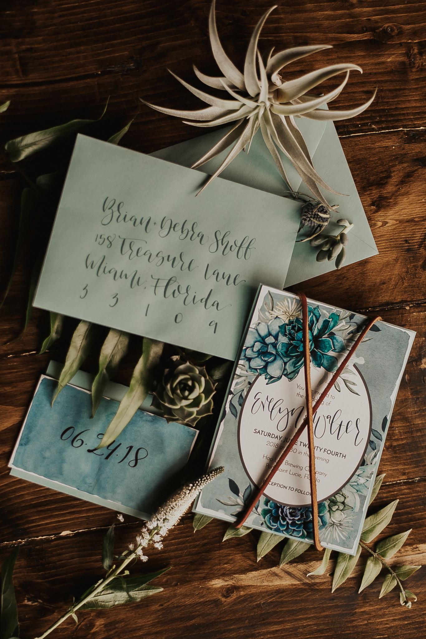 love-fern-design-studio-custom-wedding-invitations-for-the-modern-couple-modern-calligraphy-in-seattle-washington-custom-wedding-stationery-teal-watercolor-southern-boho-invitation-suite
