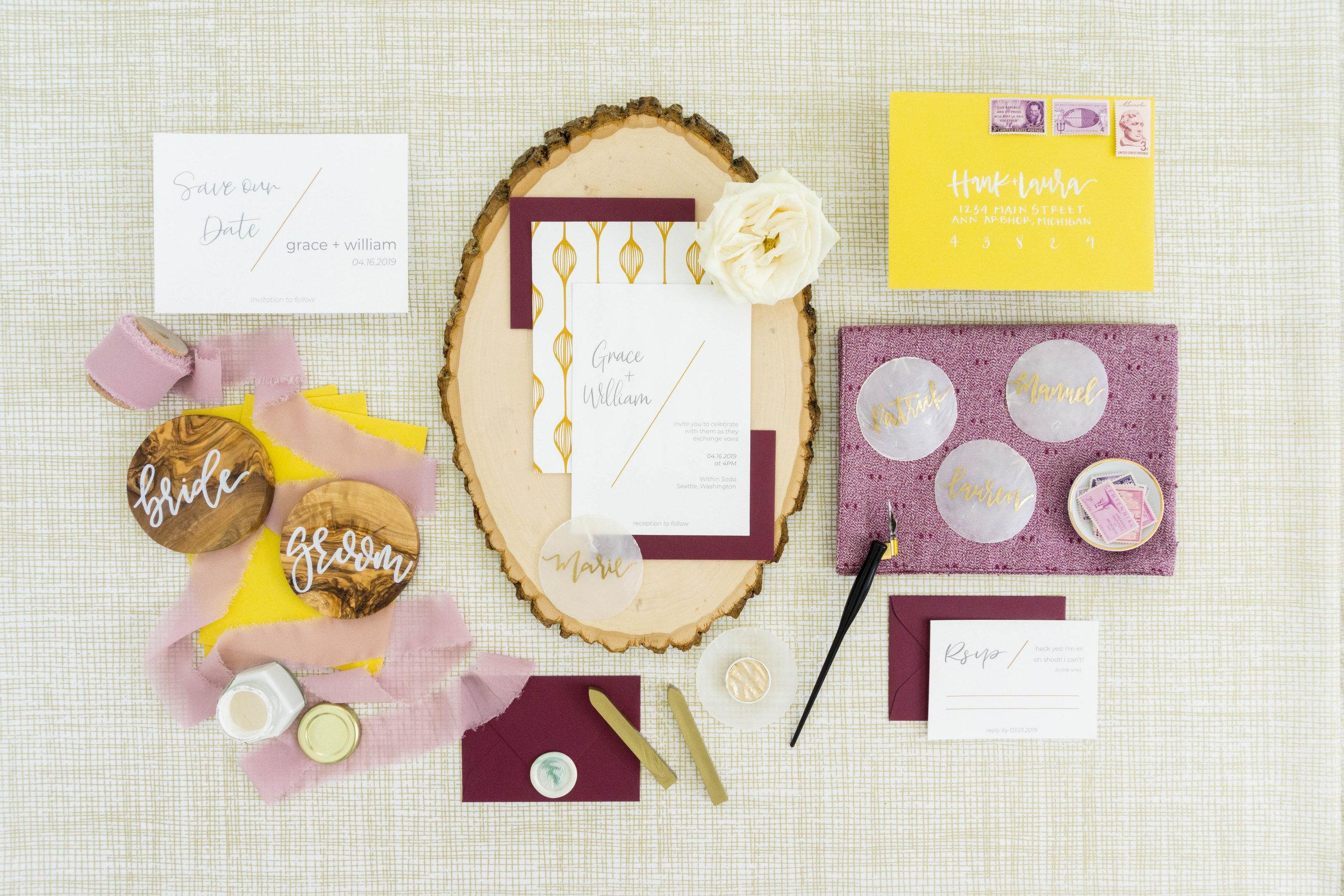 love-fern-design-studio-custom-wedding-invitations-for-the-modern-couple-modern-calligraphy-in-seattle-washington-custom-wedding-stationery-modern-minimal-wedding-invitations