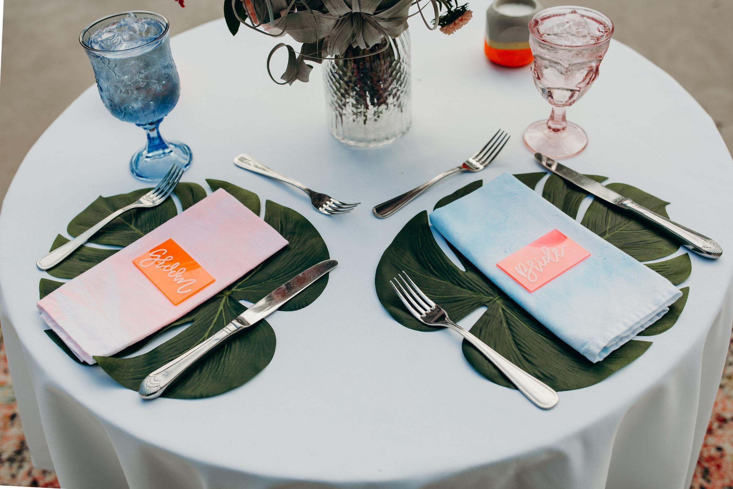 love-fern-design-studio-custom-wedding-invitations-for-the-modern-couple-modern-calligraphy-in-seattle-washington-custom-wedding-stationery-neon-acrylic-eclectic-alice-wonderland-wedding-sweetheart-table
