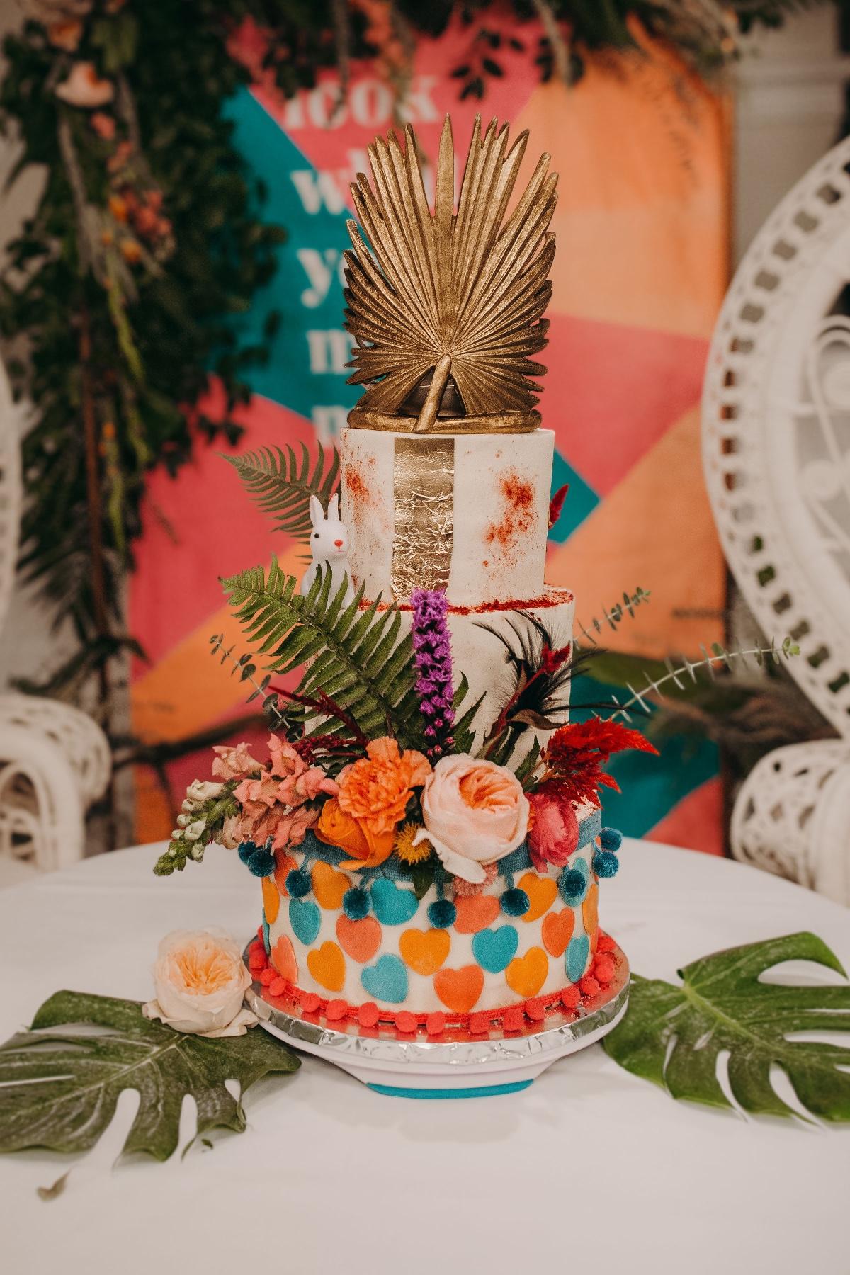 love-fern-design-studio-custom-wedding-invitations-for-the-modern-couple-modern-calligraphy-in-seattle-washington-custom-wedding-stationery-neon-acrylic-eclectic-alice-wonderland-wedding-cake