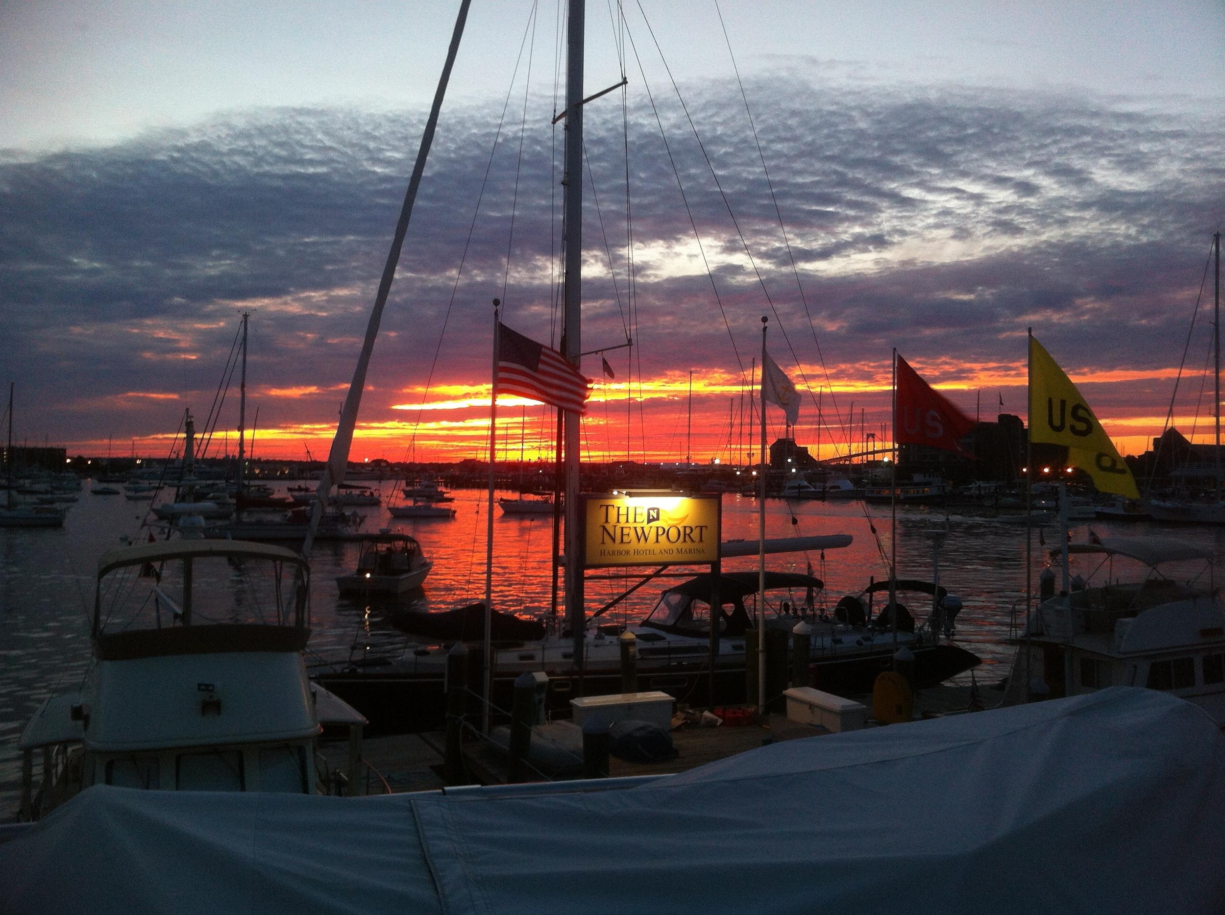 Sunset over Newport Harbor