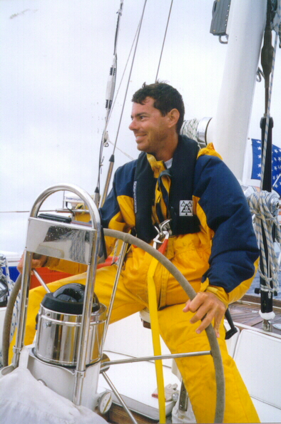 """One of many sail yacht deliveries north/south fromNew England to the Caribbean. S/Y """"Bandera"""", spring 1998"""