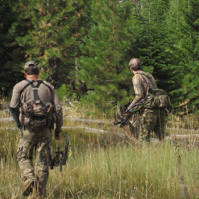 Following the blood trail can be tedious...but well worth it. #bowhunting #elkhunting #deerhunting #huntinggear
