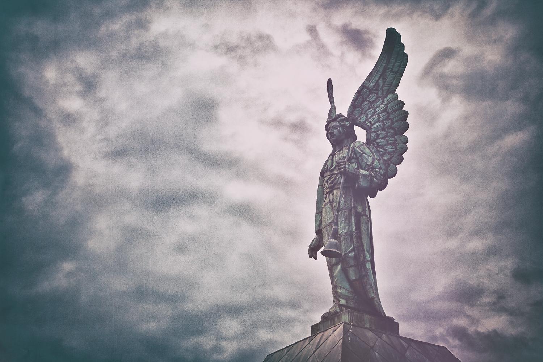 Angel Statue, Notre-Dame-de-Bon-Secours Chapel, Montreal, Canada