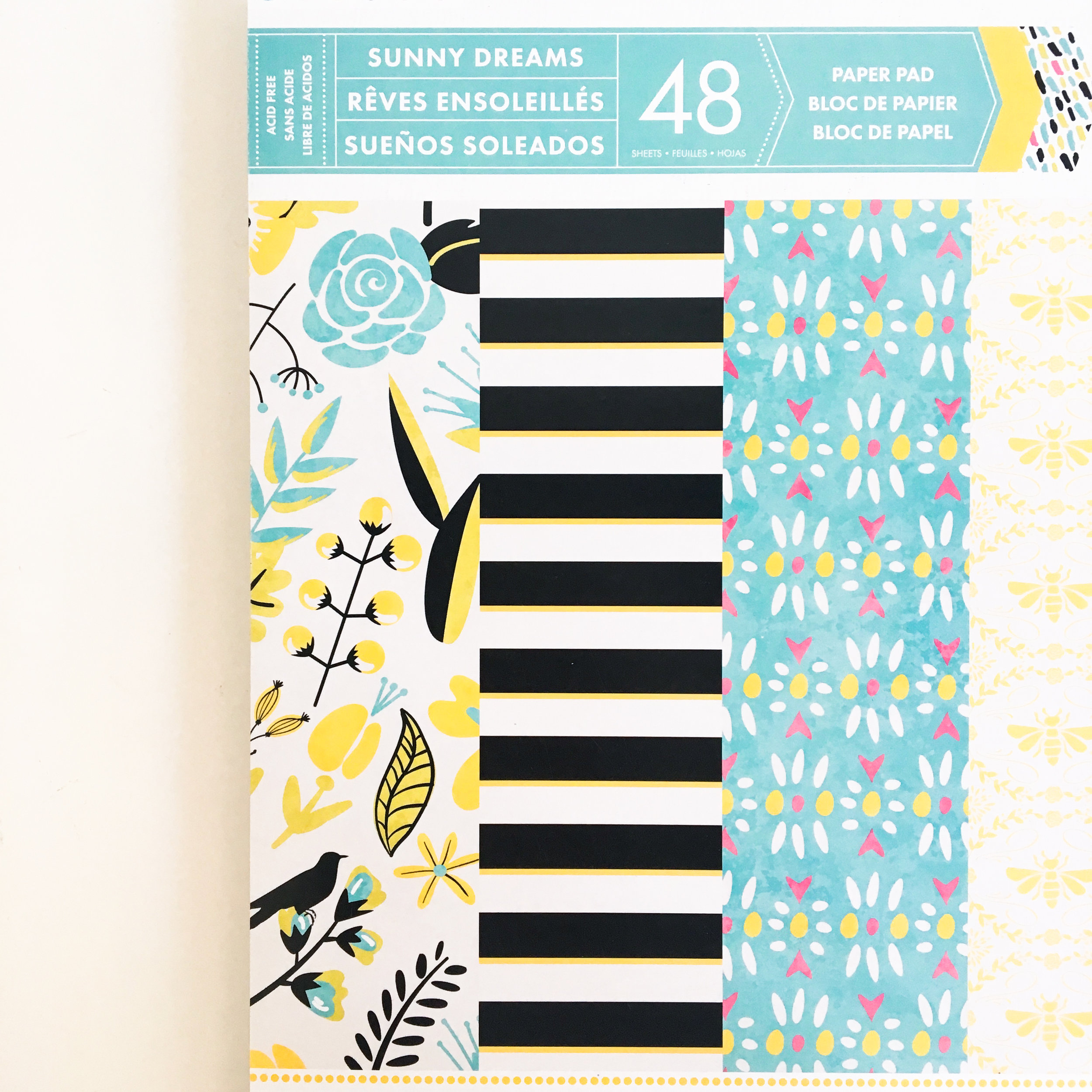 This is the Sunny Dreams paper pad we used to make the book covers and pencil pouches.