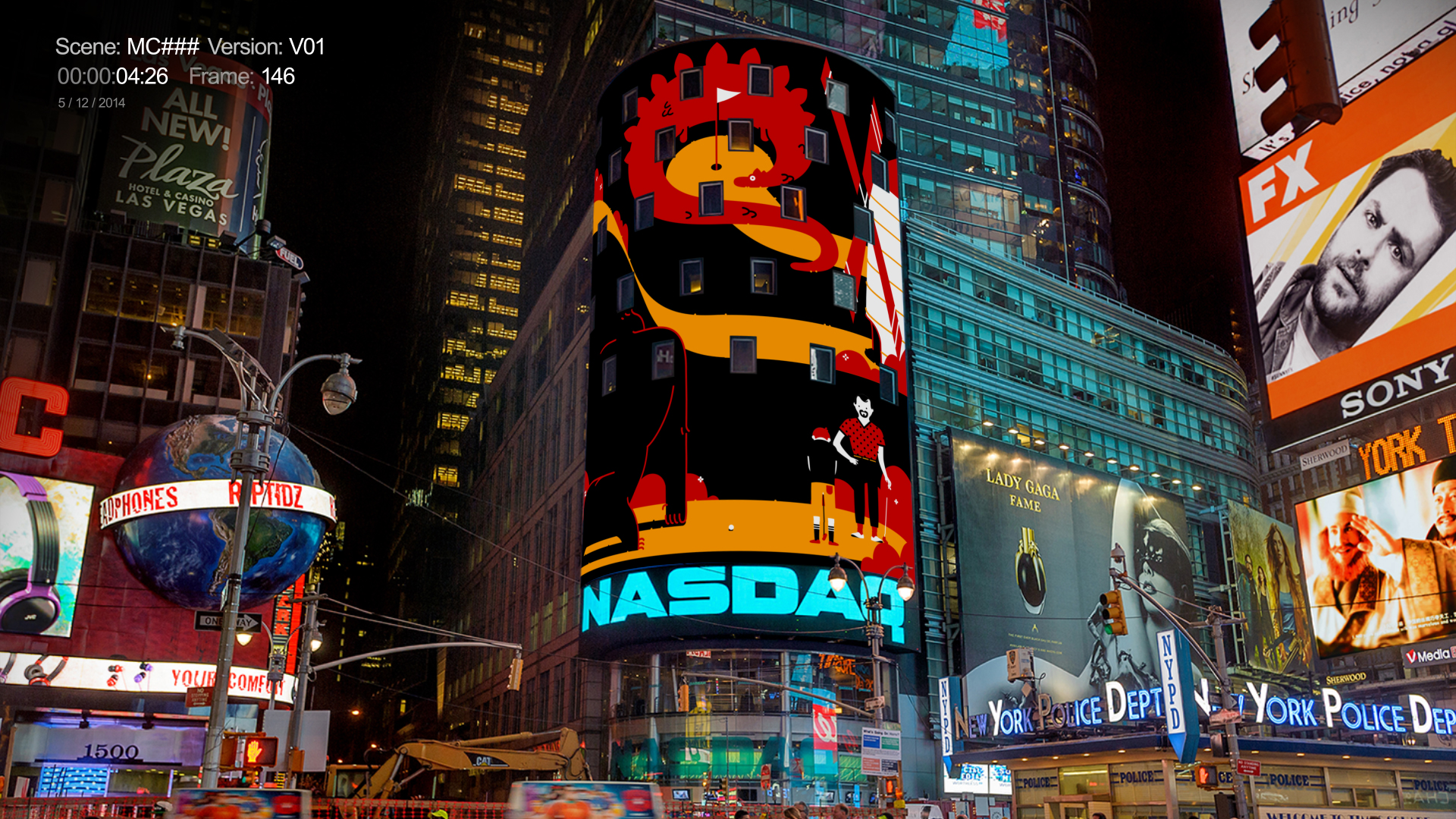 Mastercard Time Square   Addtl. Direction / Design / A.D. by Thomas Schmidt