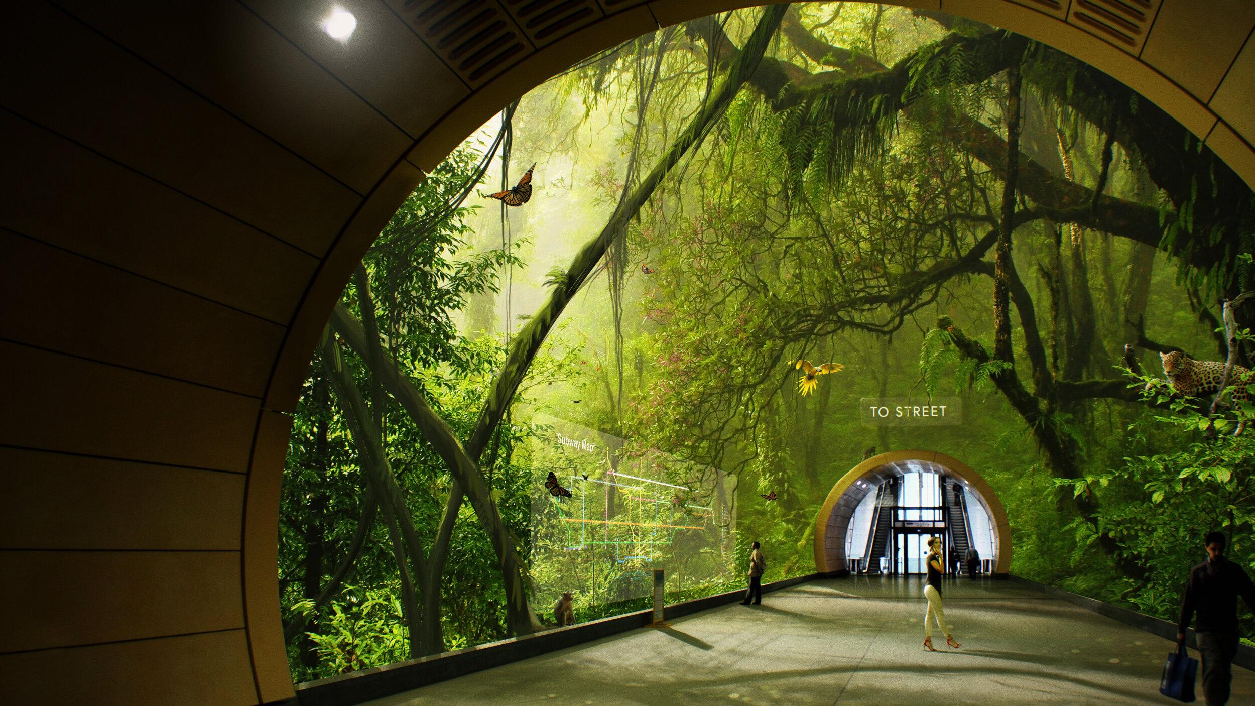 Light Field Lab - Holographic Subway Station design
