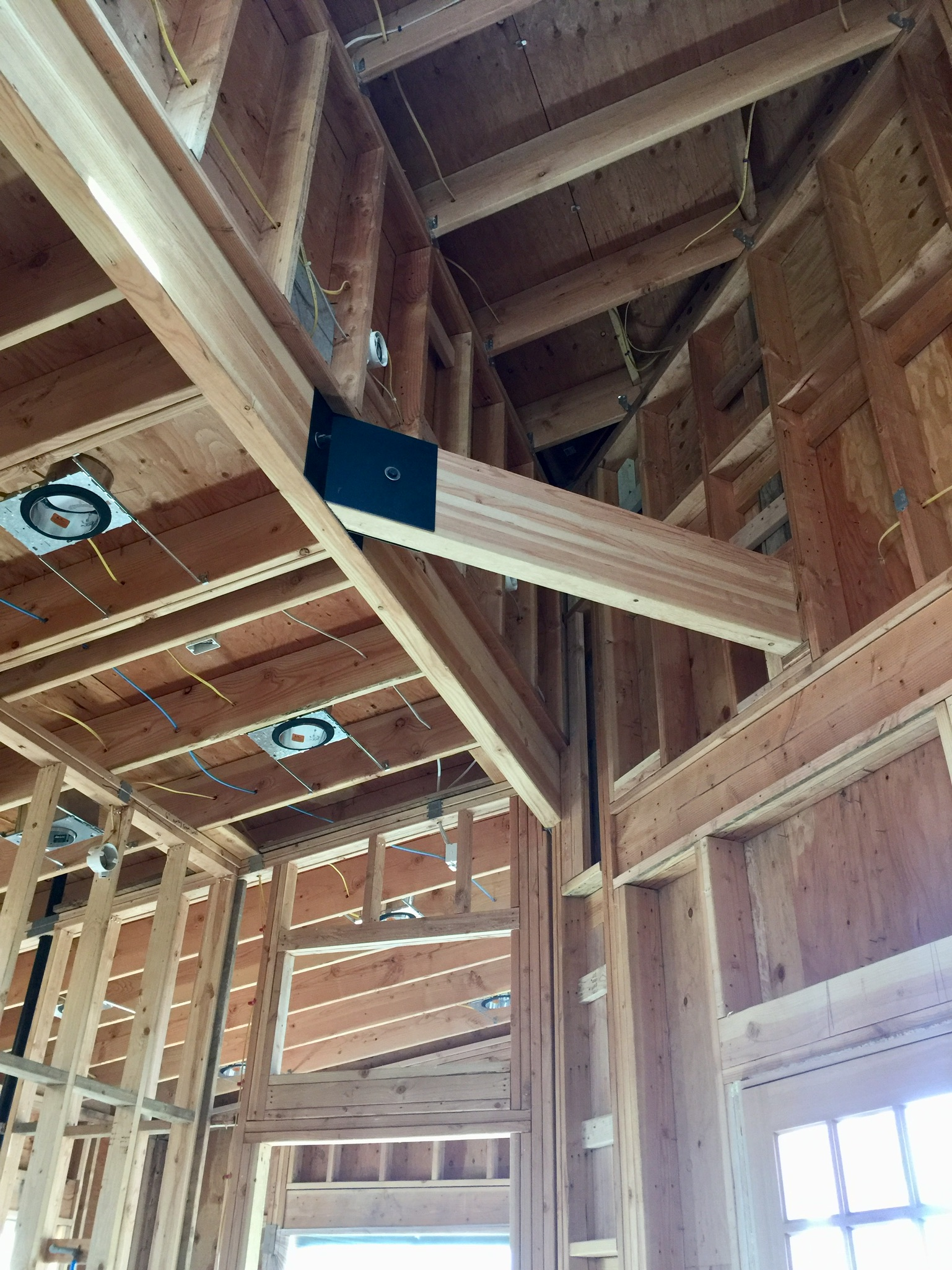 Exposed architectural beams