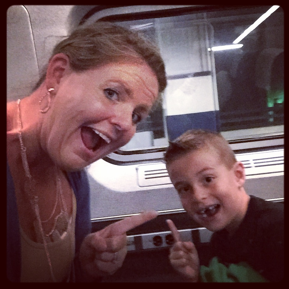 On the train to nyc