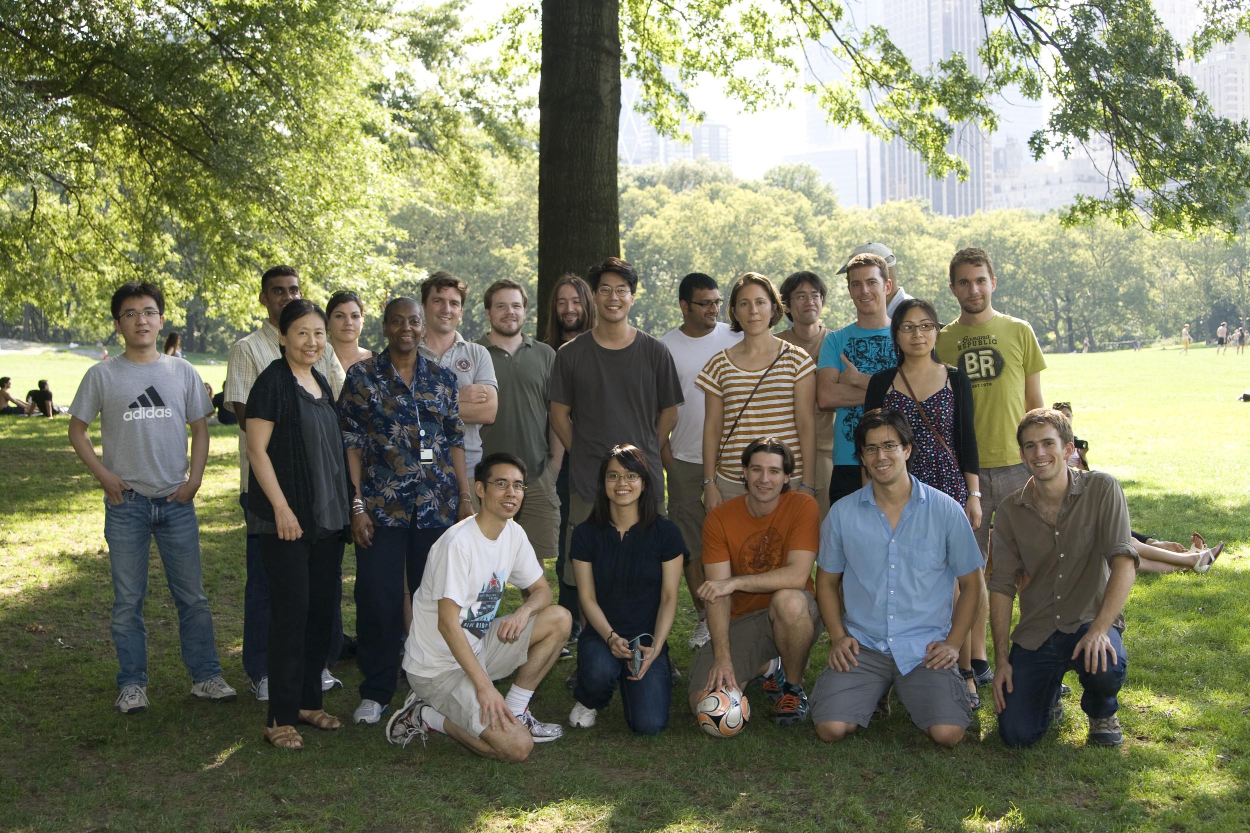 Lai lab Picnic, 2011. Central Park