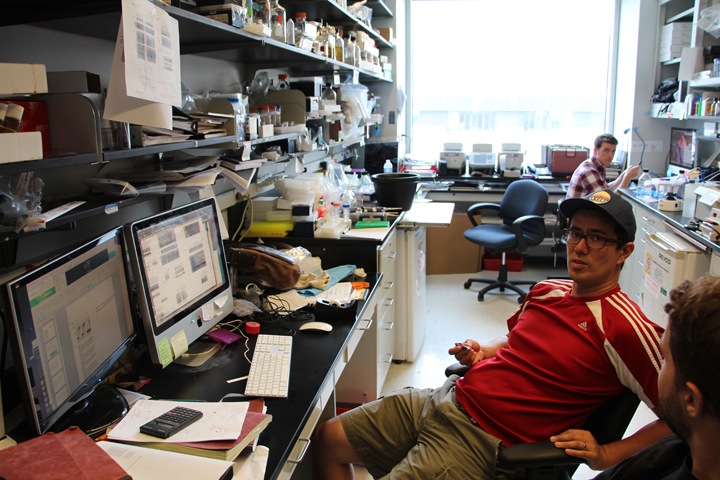 Hard at work in the Lai Lab. Memorial Sloan-Kettering Cancer Center, NYC.