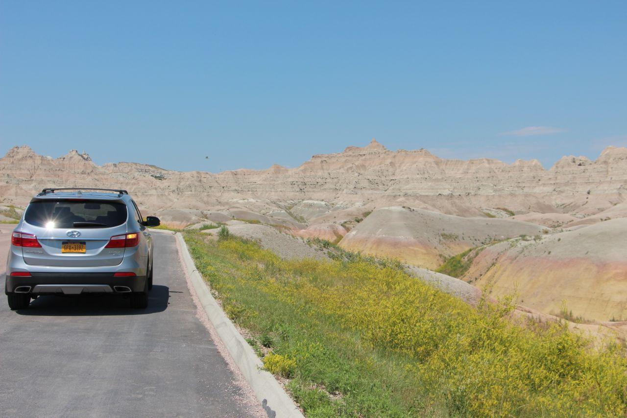 Exiting the Badlands. Wish we could have seen the stars there at night!