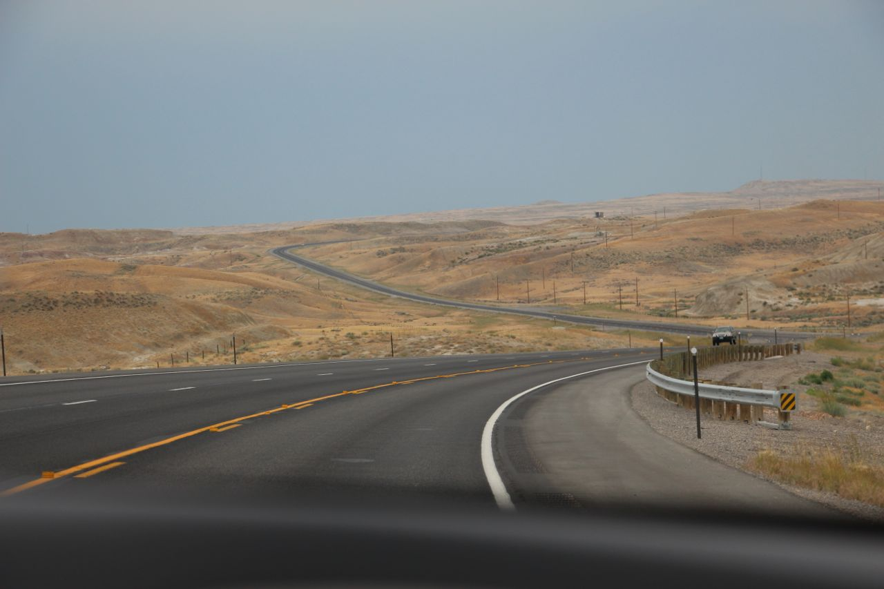 Somewhere in Wyoming. Speed limit is 80 mph!