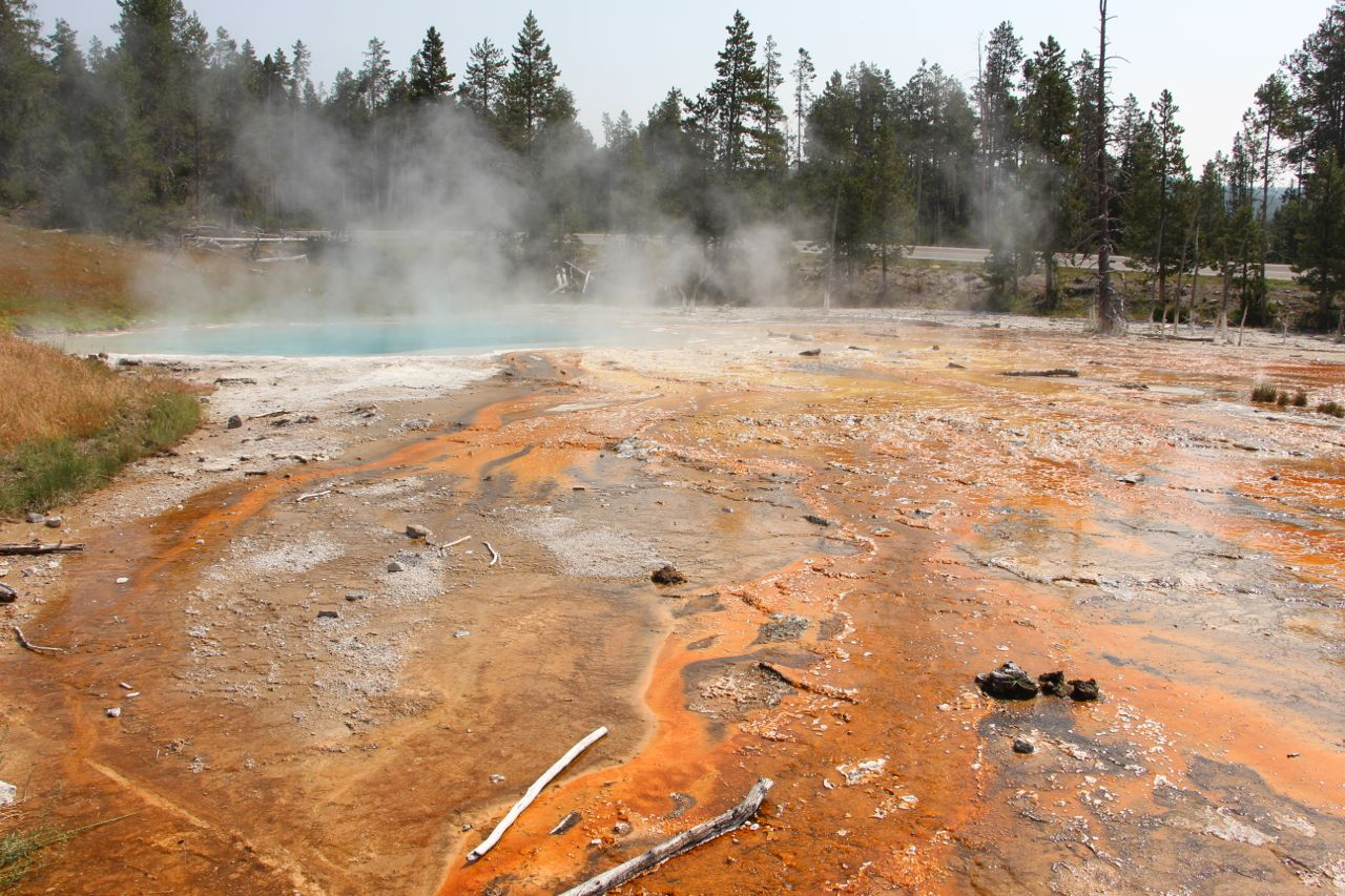 More crazy stuff from Mother Nature at Yellowstone.