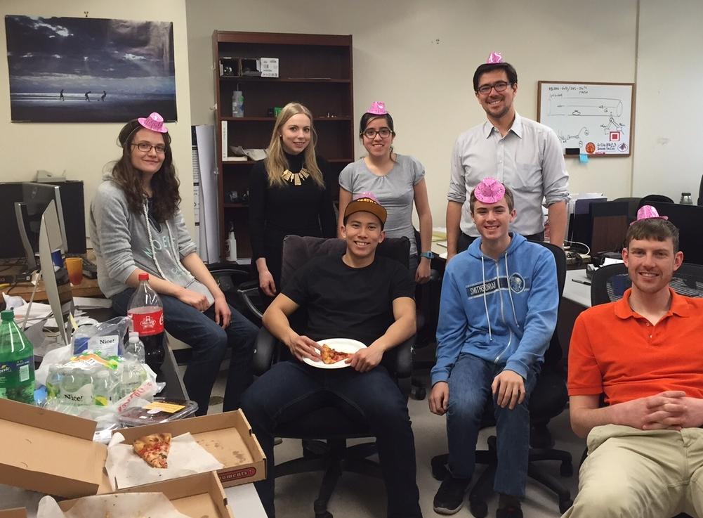 Celebrating Matt Bauer's Science Fair win!