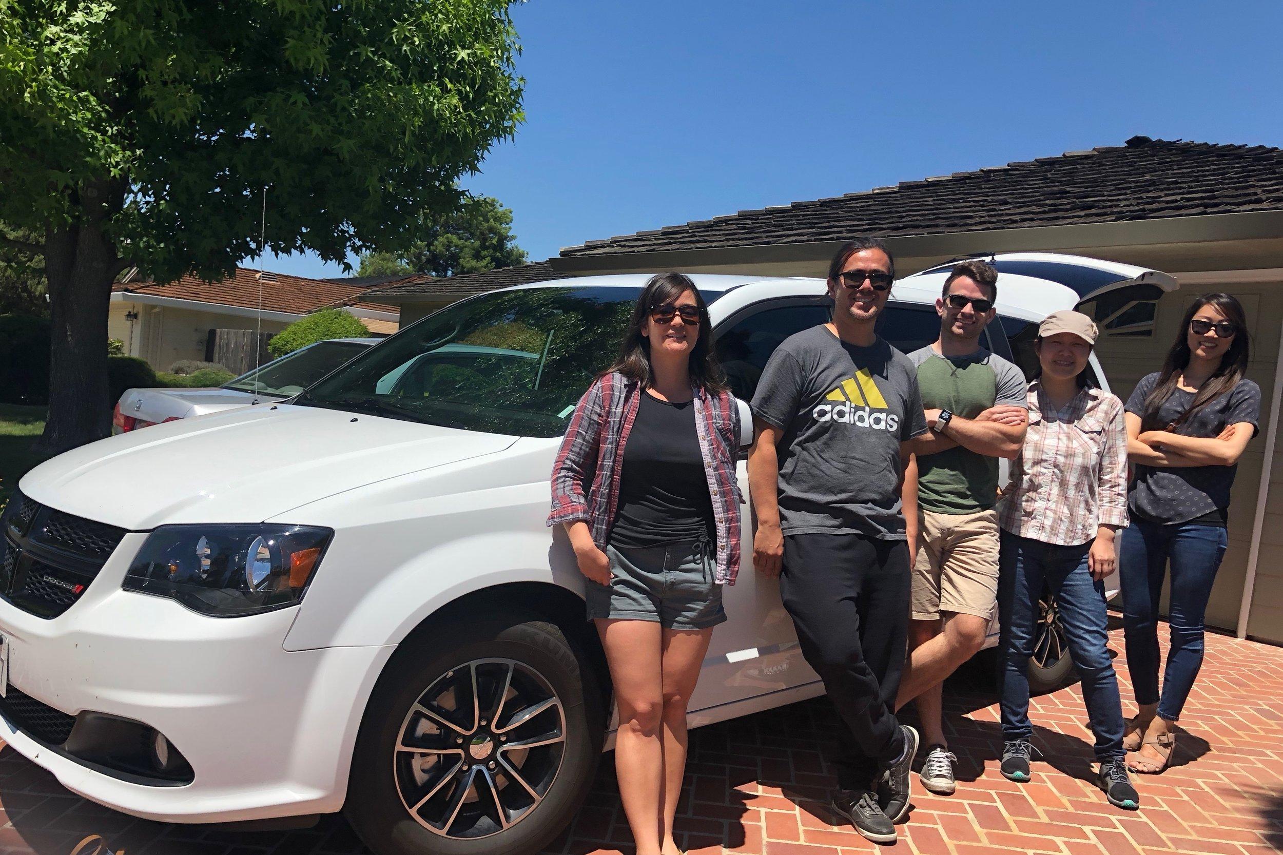 The Miura lab van on its way to RNA 2018 in Berkeley, CA.