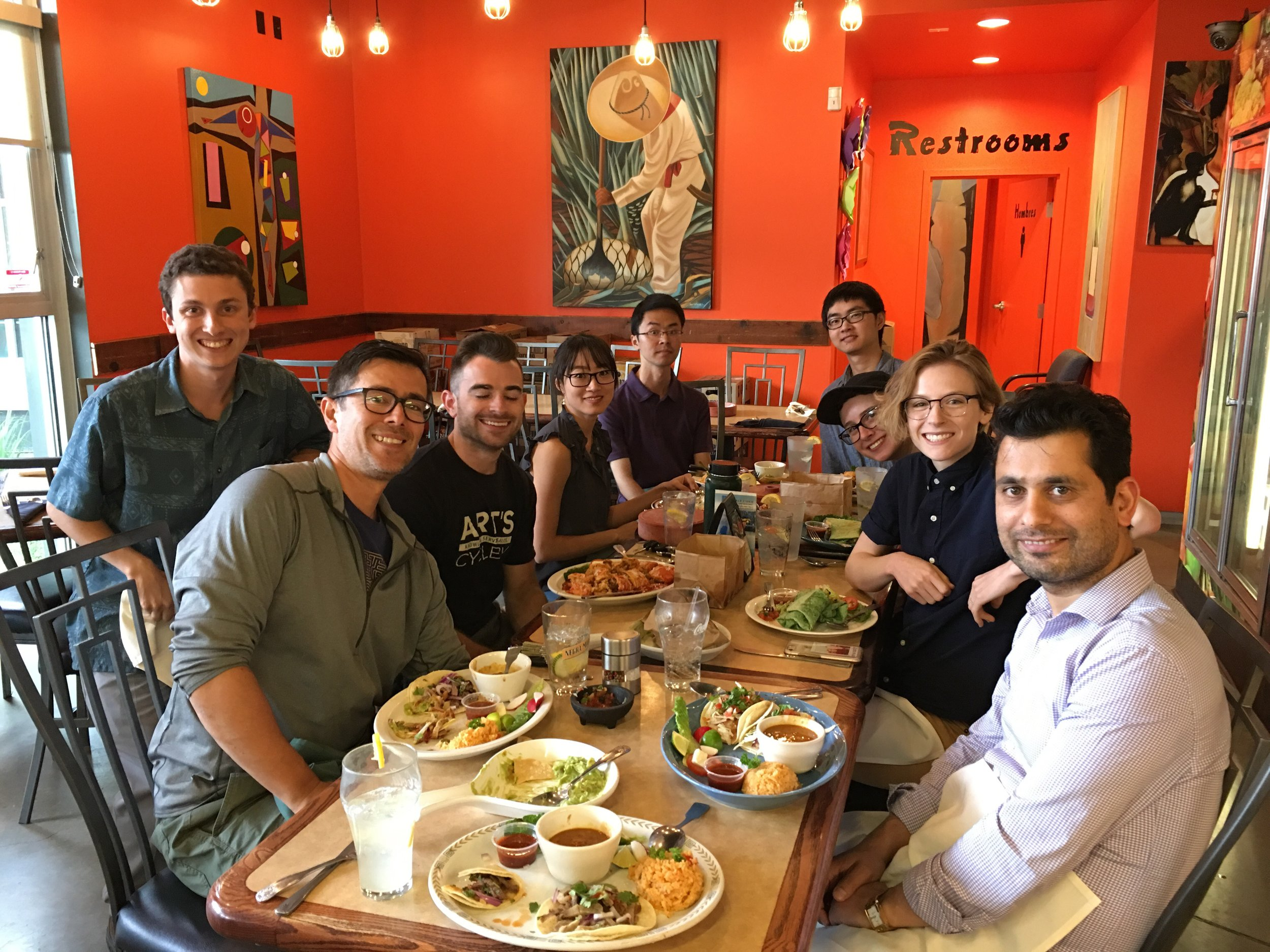 Lab lunch, June 2019 with worm circRNA experts