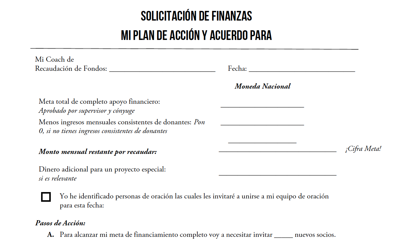 Mi Plan de Solicitación de Recaudación de Fondos - Usa esta herramienta para crear un plan de acción para tu Solicitación de Fondos. Descarga aquí