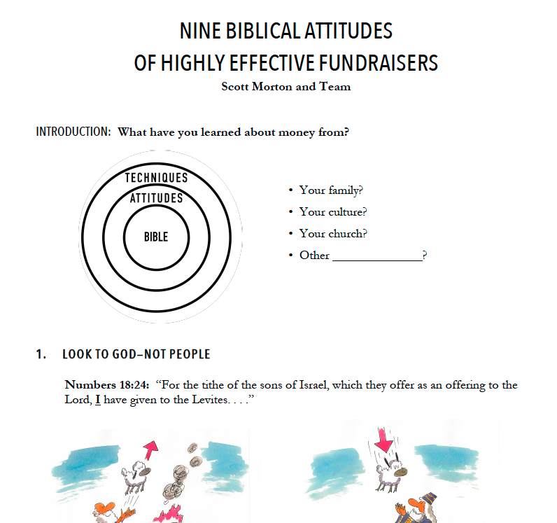NINE BIBLICAL ATTITUDES OF HIGHLY EFFECTIVE FUNDRAISERS -