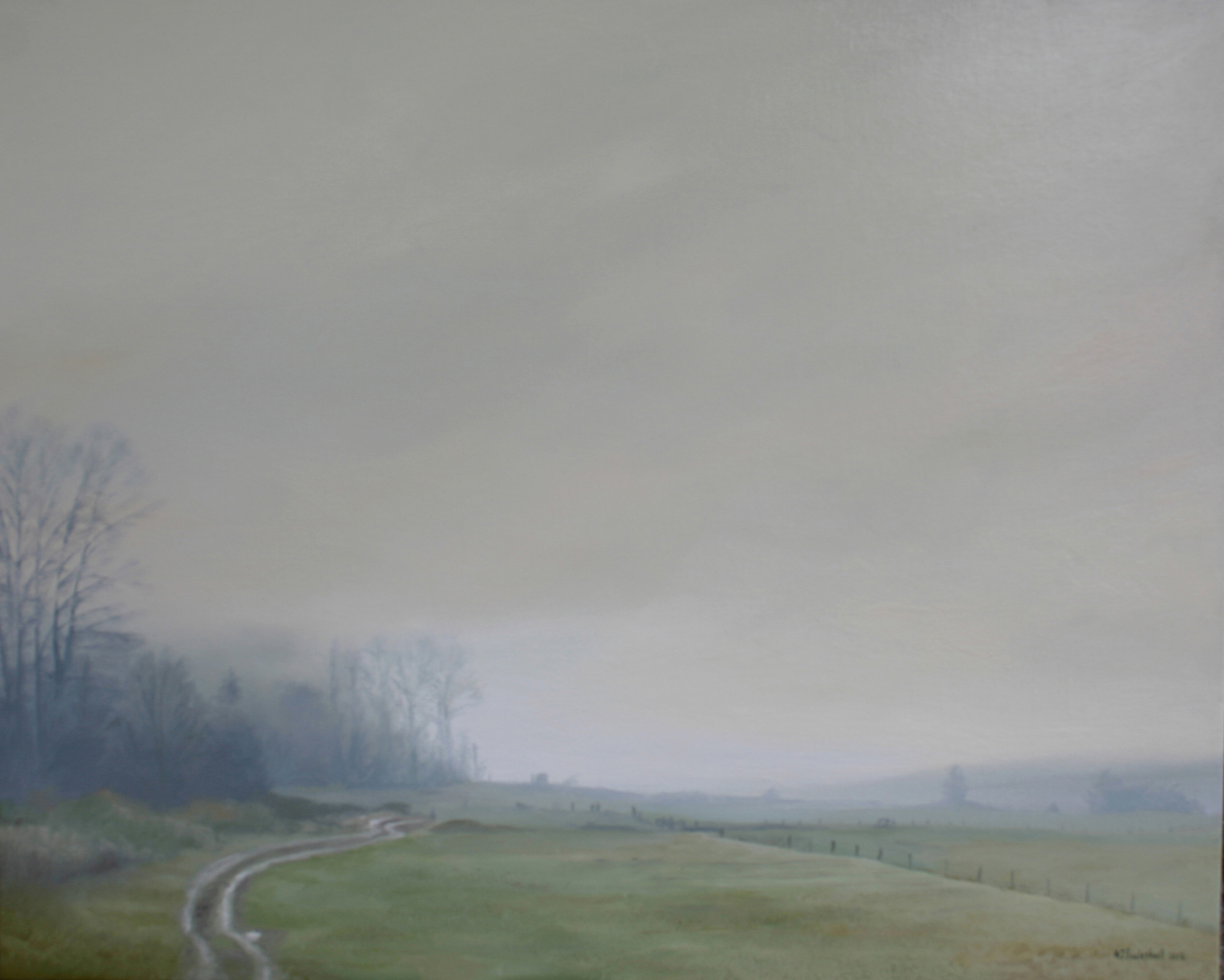 """Misty Morning"" 24x30 oil on canvas"