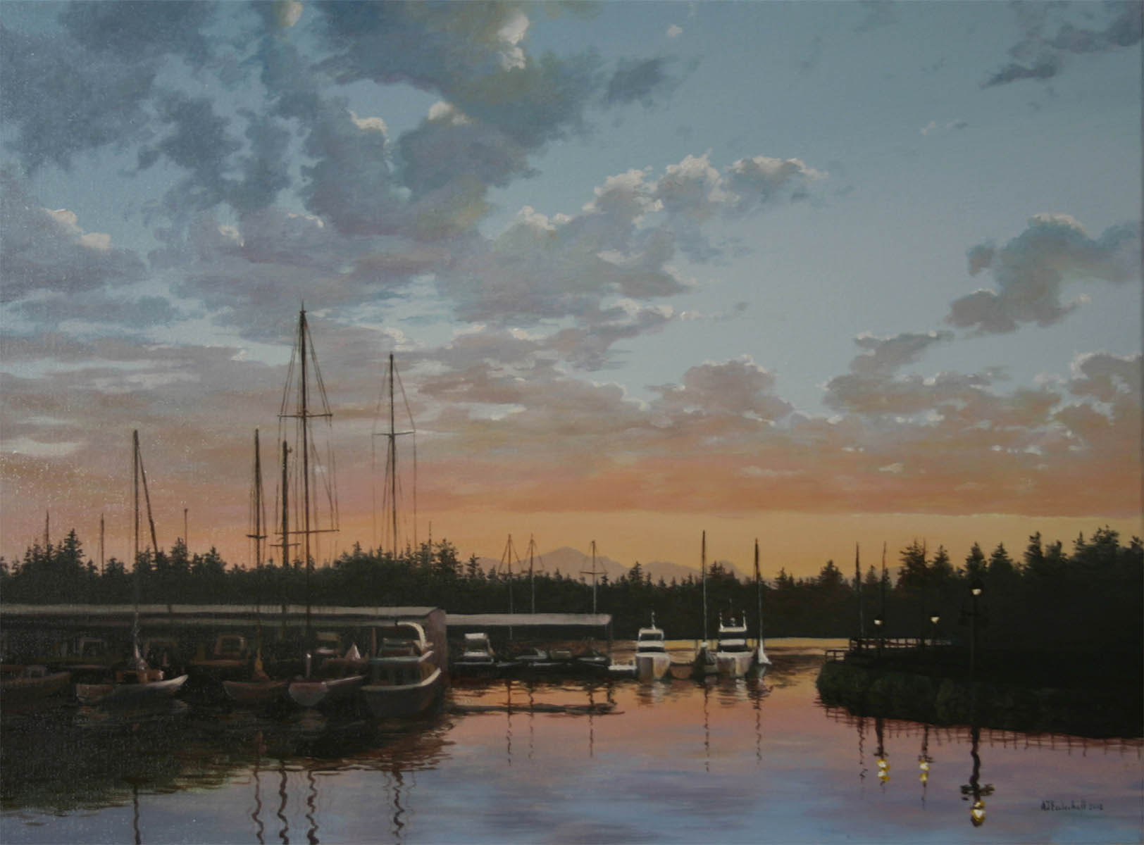 """Kingston Sunset"" 18x24 oil"